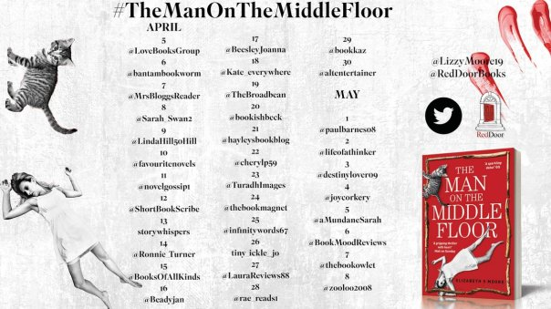 the man on the middle floor blog tour poster