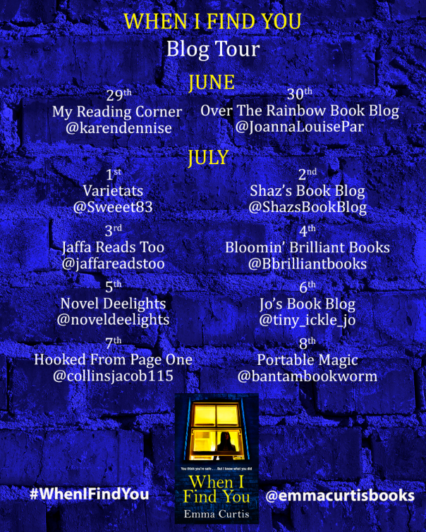 When I Find You Blog Tour Banner