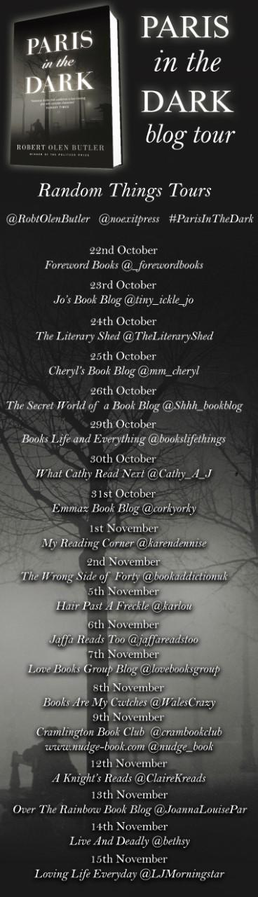 Paris In The Dark Blog Tour Poster